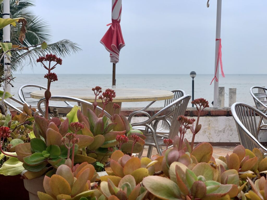 Gondola Restaurant Seating Area Outside Macau Overlooking the Sea Macau Lifestyle