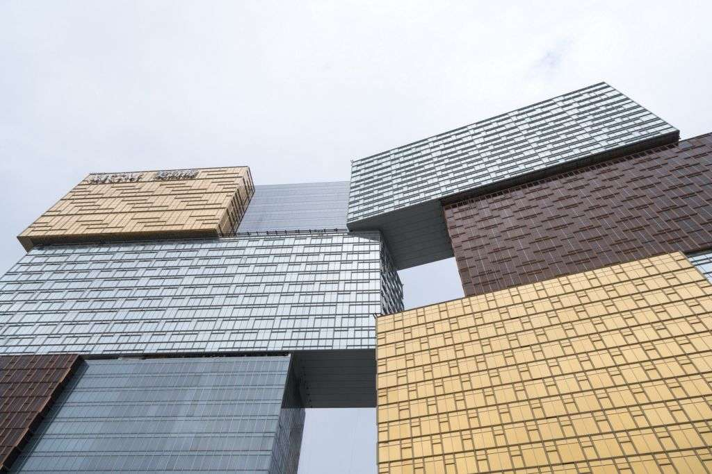Front view of MGM Cotai