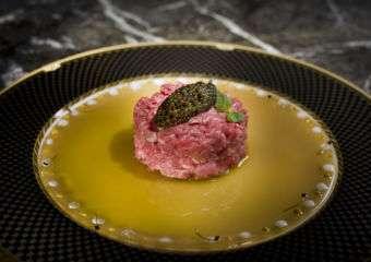 The Ritz-Carlton Cafe Chef Raphael Tartare de Boeuf