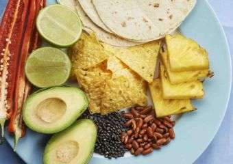 Platter of Mexican food ingredients from El Pinball restaurant in Macau