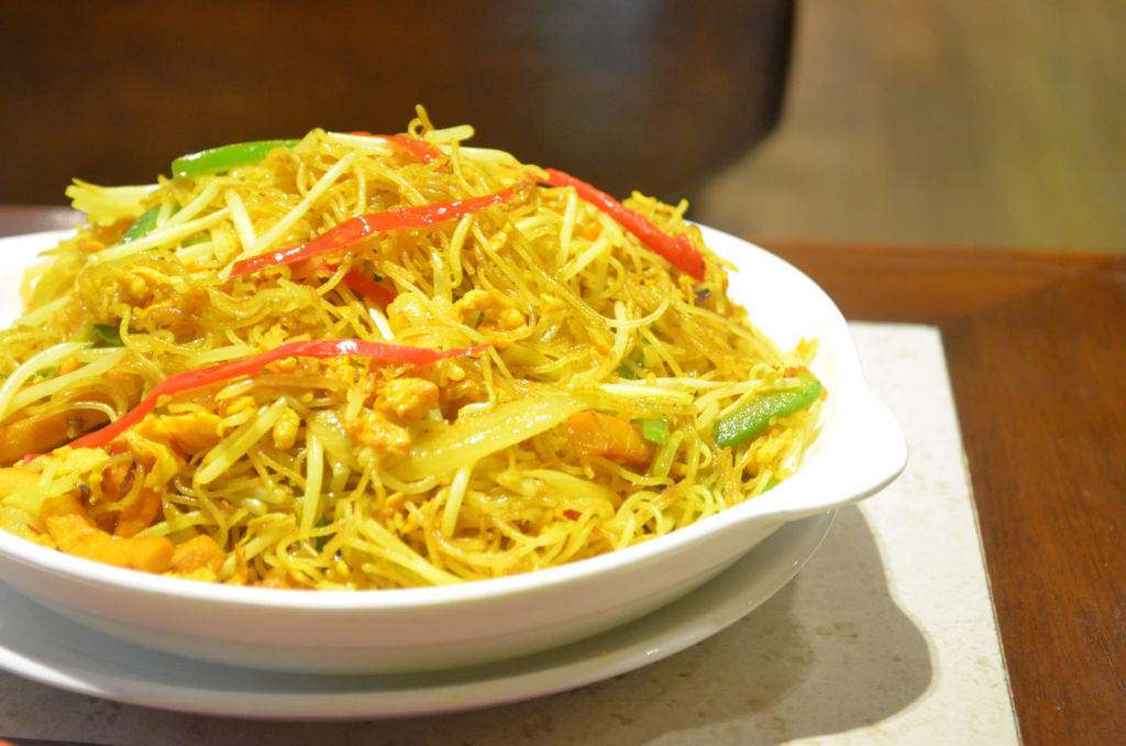 A dish of Singapore noodles at Alves Cafe in Macau