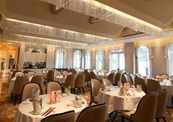 Dining room of Jin Yue Xuan restaurant in Macau