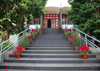 Steps leading up to Our Lady of Fatima church