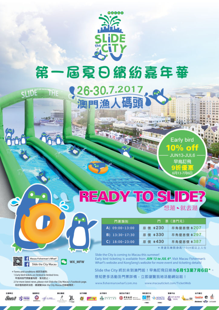 Poster with water slides.