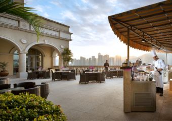 The Mistral Pool terrace at Sofitel hotel in Macau
