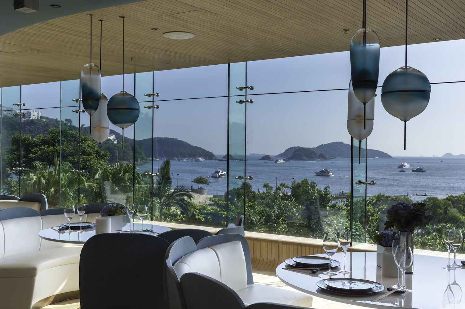 Dining room with sea views at The Ocean.