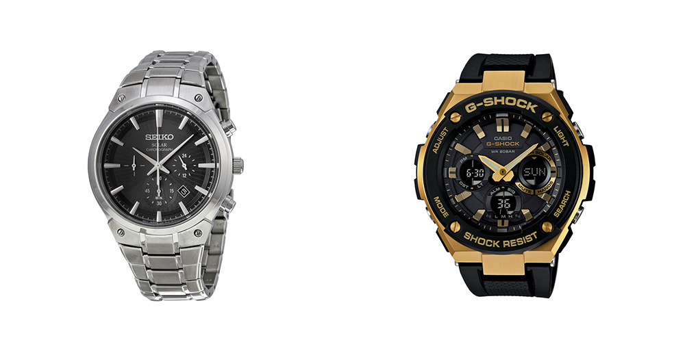 Seiko and G-Shock by Casio watches