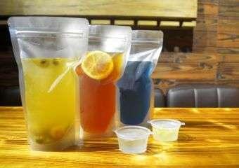 An assortment of drinks at Lavish Gourmet restaurant in Macau.
