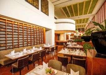 Dining room of A Pousada at the Regency Hotel in Taipa, Macau.
