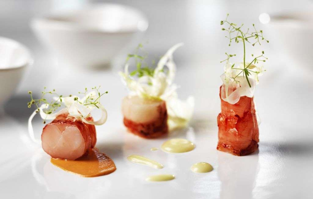 An appetizer dish from Chef Rolf Fliegauf.