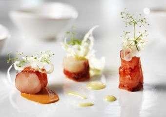 dish by Chef Rolf Fliegauf