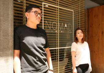 Nomad Design Macau Stanley and Sadie outside their business in Macau