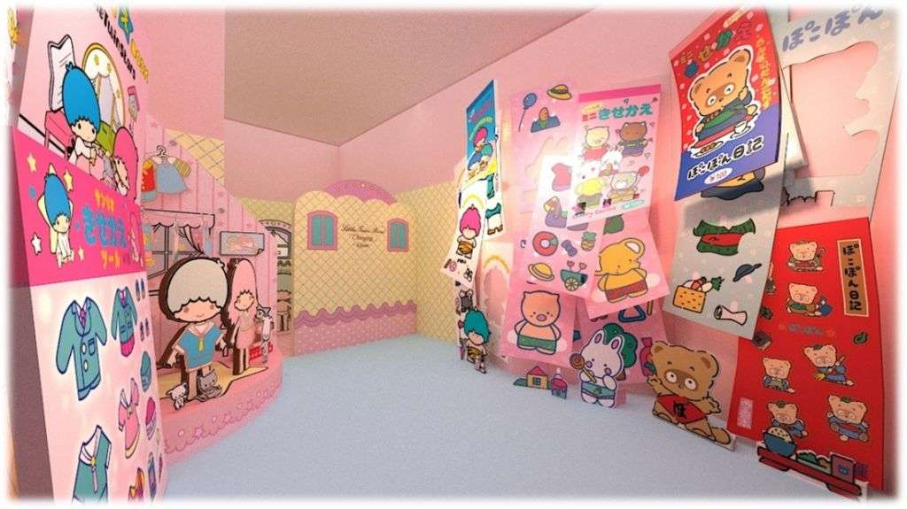 Kids room with Sanrio illustrations