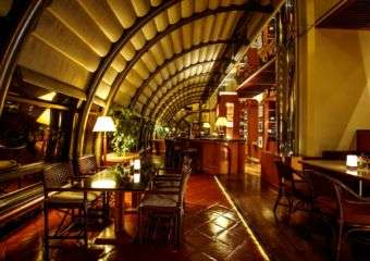 The Green House bar and lounge at the Regency Art Hotel in Taipa, Macau.