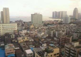 A view of Zhuhai city in Gongbei district, near the Macau border.