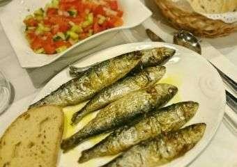 Dish of sardines from A Baia Portuguese restaurant in Macau.