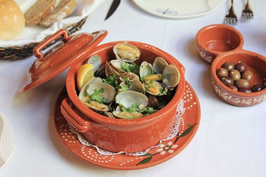 Clams dish at Antonio's restaurant in Macau