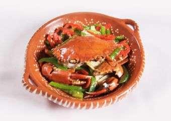 Flamingo crab dish at Flamingo restaurant in Regency Art Hotel in Macau