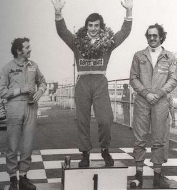 Ricard Patrese after winning 1978 Macau Grand Prix.