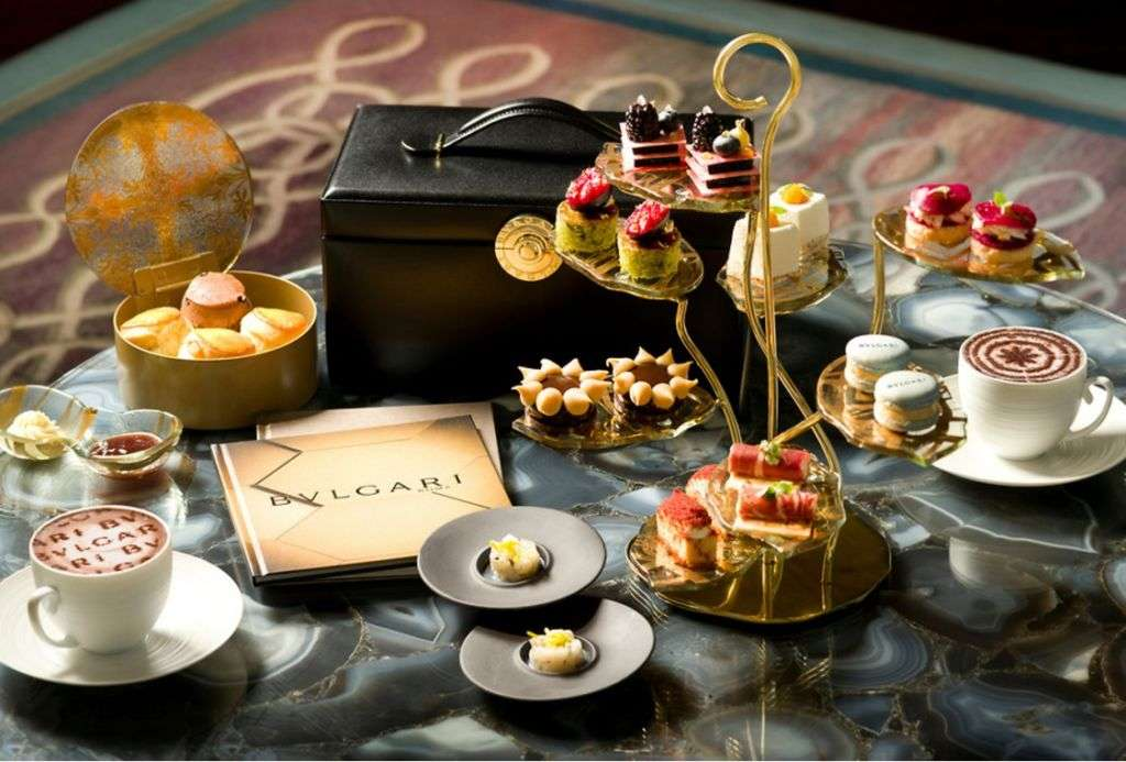 Afternoon tea service event at the Ritz-Carlton in Macau.