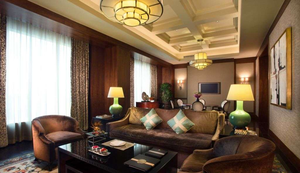Living room in the Florence Suites of Paiza at The Venetian Macao