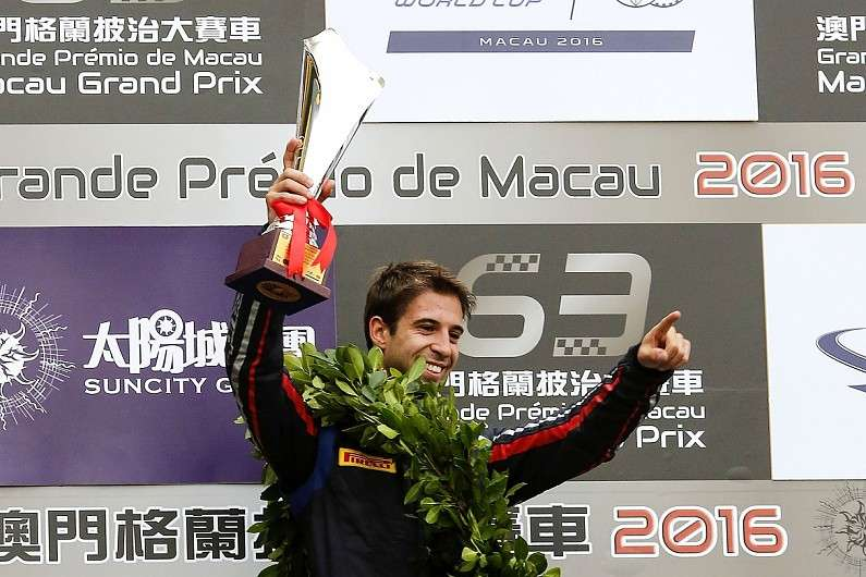 Antonio Felix da Costa after winning 2016 Macau Grand Prix