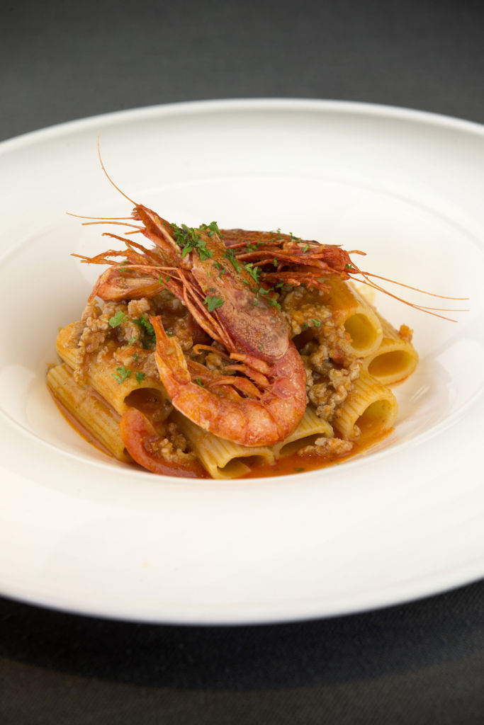 A seafood and pasta dish from Caffe B in Macau