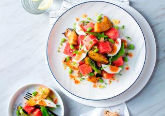 DEAN & DELUCA Macau Watermelon with Salted Egg Salad