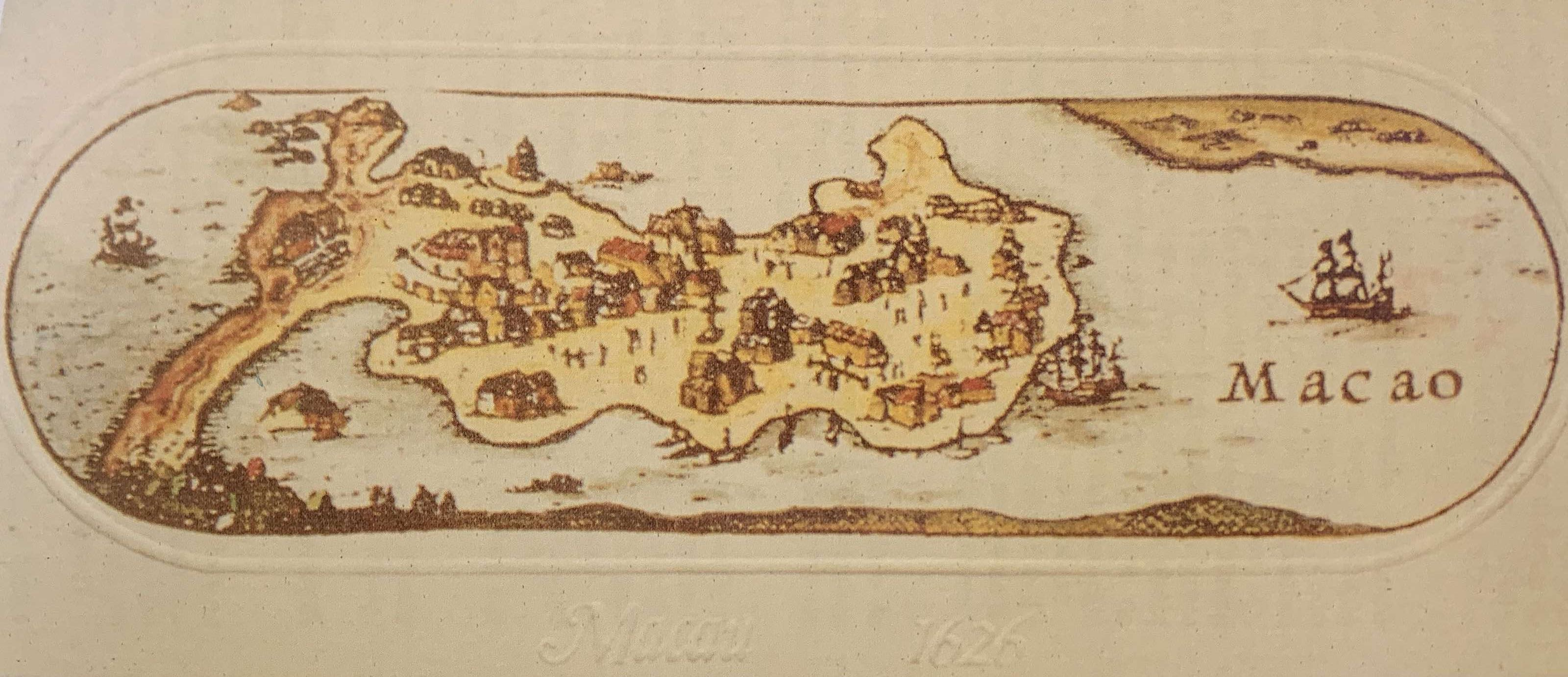 Macau in 1626 by John Speed, in Cronologia da Historia de Macau