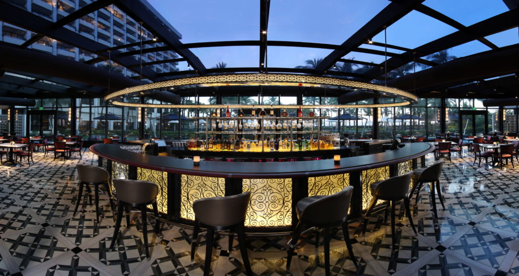 Spiral restaurant at the Sofitel in Manila.