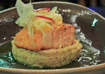 Salmon dish at Tromba Rija Argentinian restaurant in Macau