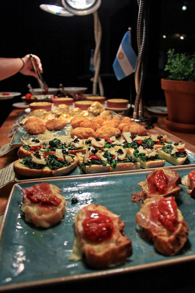 A selection of appetizers from the buffet at Argentinian restaurant Tromba Rija in Macau