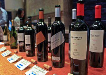 Selection of wines at Tromba Rija Argentinian restaurant in Macau