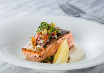 Salmon from The Apron restaurant in Galaxy Macau