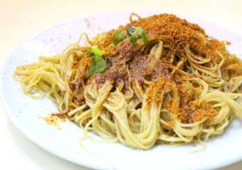 Cheong Kei noodle shop noodles with shrimp roe dish