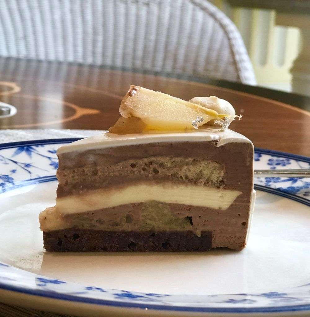 Layers inside a cake from Grand Lapa Macau.