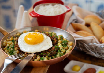 IFTM Educational restaurant Traditional Macanese Minchi (beef and pork) with potatoes and fried egg