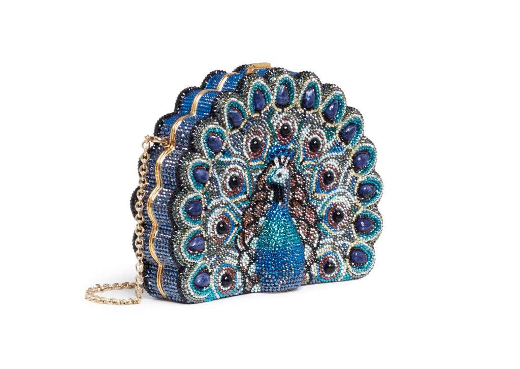 Judith Leiber Peacock Clutch Bag