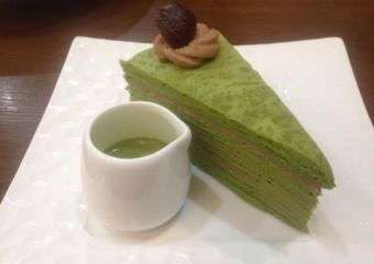 Mr. Lady matcha chesnut millie crepes