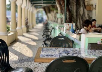 Nga Tim Outdoor Table with Blurred Background Macau Lifestyle