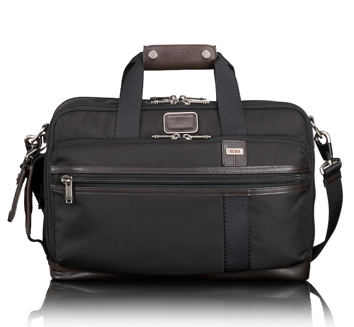 combination briefcase and backpack by TUMI