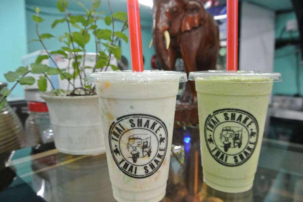 Two drinks from Thai Shake in Macau.