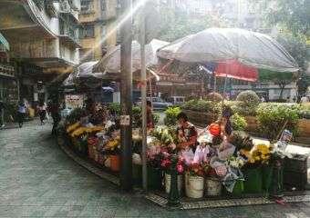 Flower shop on Rotunda de Carlos da Maia in Macau