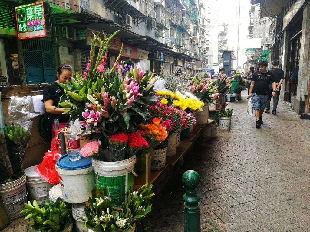 Flower shop on Rua da Praia do Manduco in Macau