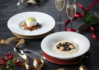 Two dishes from Terrazza