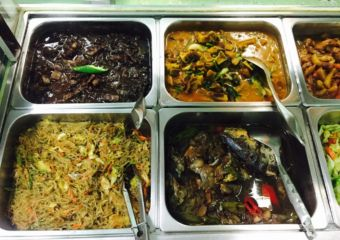 Selection of Filipino dish viands