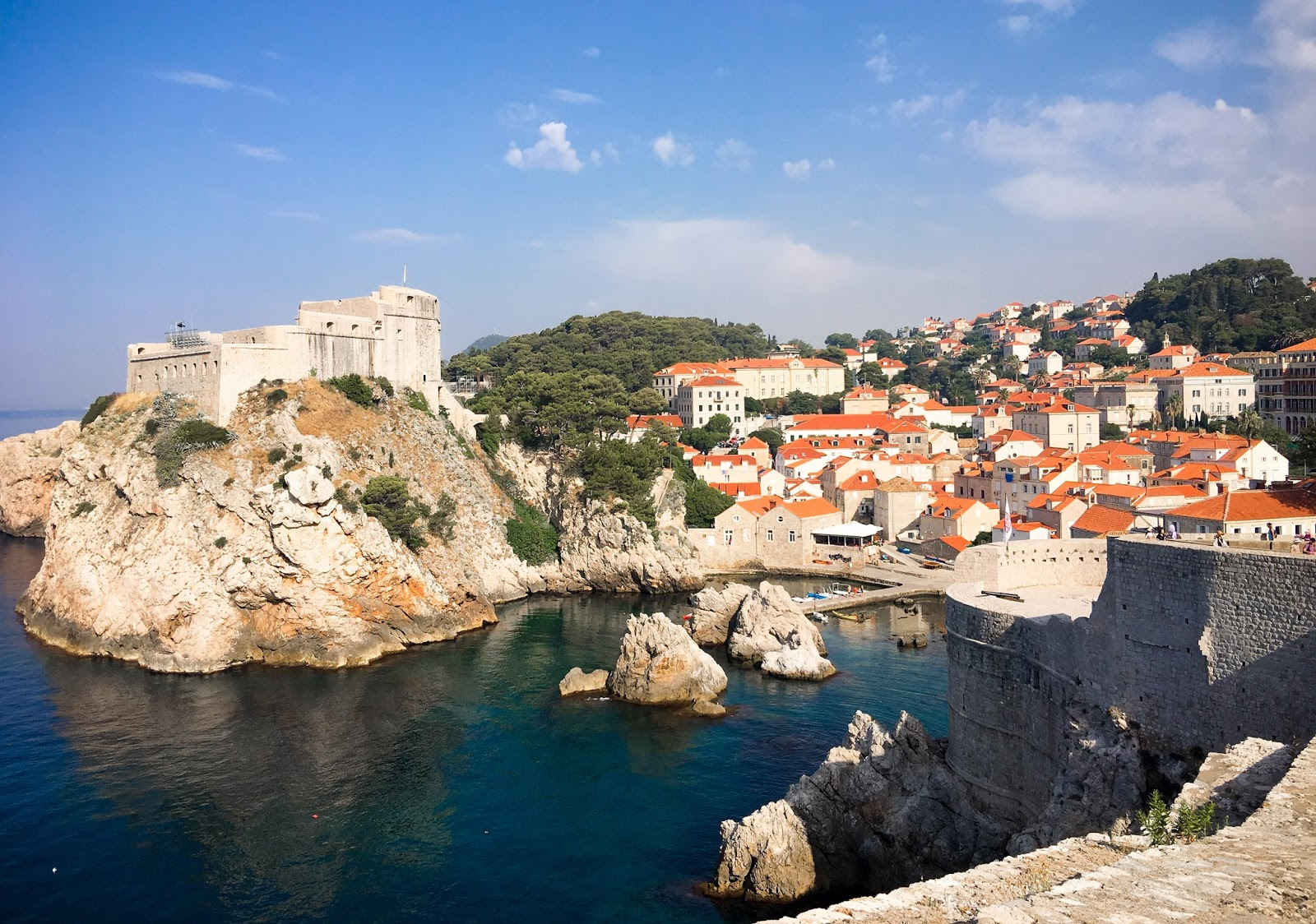A view of Dubrovnik's old city walls.