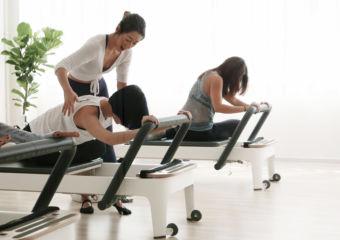 Pilates House Macau - ladies stretching