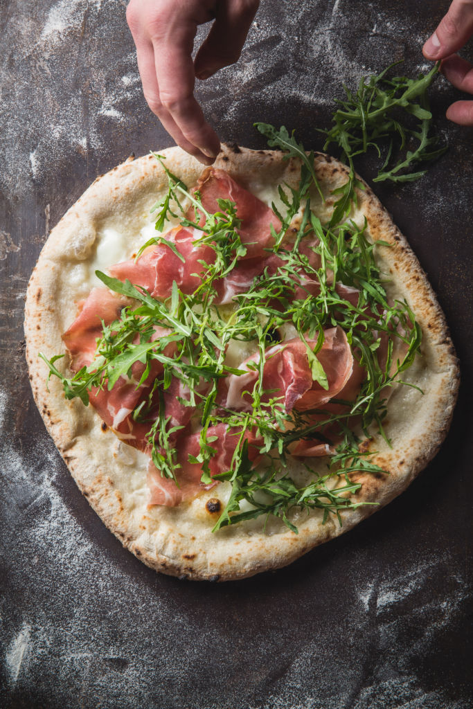 Arugula and parma flatbread