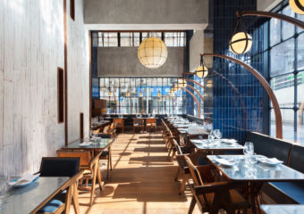 The Fleming Osteria Marzia Banquette and Lamp